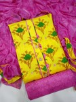 cotton Jaipur patch Dress Material ( 4 Pcs  Catalog )