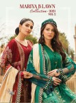 Shree fabs maria b lawn 2021 vol 2 schiffli work pakistani Dress Material