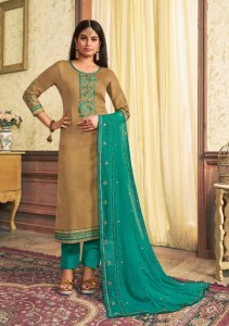 Kalarang Avantika Jam Silk Dress Material (4 pc Catalog)