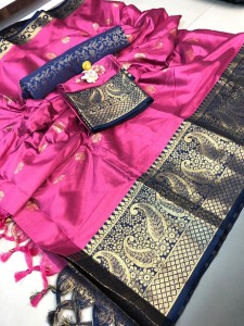 Redolence Kaira butta Cotton silk Fancy Saree