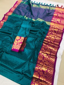 Redolence Rim Zim Emboss Fancy Pure Cotton Silk Saree