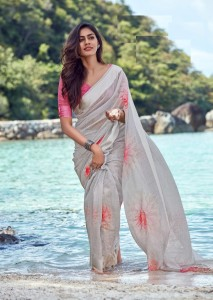 LT Fashion Mikashi Linen Saree ( 10 Pcs Catalog )