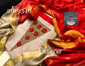 Designer Chanderi Silk Dress Material ( 4 Pcs Catalog )