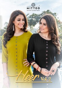 MITTOO HEER VOL-2 RAYON KURTI ( 8 PCS CATALOG )