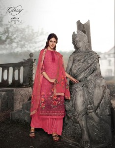 Glossy Royal Tale Simar Natural Embroidery Dress Material  ( 8 Pcs Catalog )