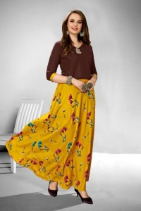 Vee Fab Kitty Party Rayon Kurtis & Skirt (4 pcs Catalog)