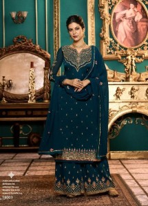 Zubeda Nimaah Satin Georgette Embroidery Dress Material (8Pcs Catalog )