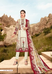 Al Zohaib Roohi Lawn Collection Fancy Dress Material ( 10 Pcs Catalog )
