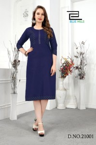 Blue Hills Jeans Vol-21 Denim Kurtis ( 8 Pcs Catalog )