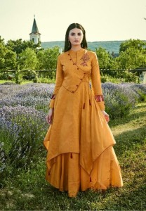 Arihant Fiza Cotton Fancy Long Gown Kurti ( 8 Pcs Catalog )