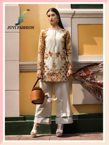 Juvi Fashion Rangrasiya Carnation Dress Material (5 pc catalog)
