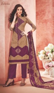 Alok Suit Zubeda Pure Lawn Cotton Dress Material (10 Pcs Catalog)