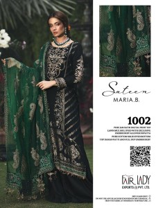 Fair Lady Mari B jam Satin Dress Material ( 4 Pcs Catalog )