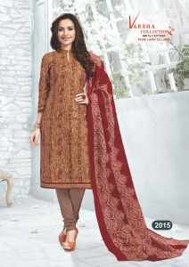 Varsha Karchi Cotton Dress Material (  3 pc catalog )