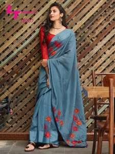 LT Fashion Kaashi Soft Linen Saree ( 10 Pcs Catalog )