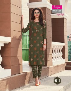 Diya Trendz Biba's Vol-5 Kurtis With Palazzo And Pant ( 14 Pcs Catalog )