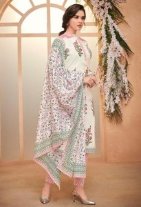 Mumtaz Arts Spring Floral Dress Material ( 3 pc catalog )