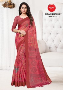 Apple Minaxi Brasso Sarees ( 8 pc catalog )