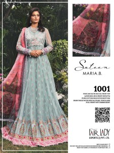Fair Lady Mari B jam Satin Dress Material Cotton dupatta