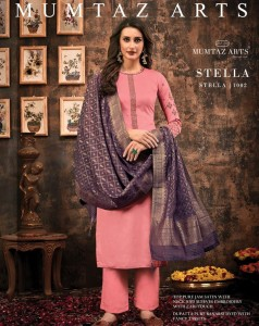 Mumtaz Arts Stella Jam Satin Dress Material (4 pc catalog)