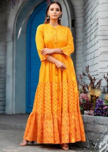 Psyna Phool Vol-2 Cotton Slub Gown ( 7 pc catalog )