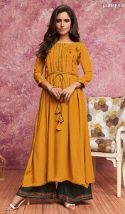 Rangoon Merry Kurti With Palazzo ( 5 pc catalog)