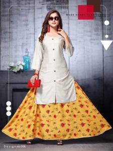 Roshani Kurti With Skirt ( 8 pcs catalog )