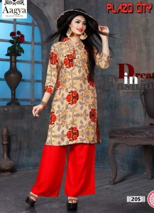 Aagya Creation Plazo City Vol-2 Kurti With Palazzo ( 8 Pcs Catalog )