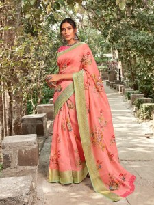 Shangrila Kadambari Linen Vol-4 Saree ( 12 Pcs Catalog )