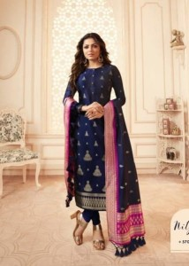 LT Nitya Vol-157 Silk Jacquard Designer Dress Material ( 8 Pcs Catalog )