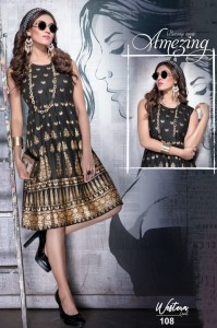 Fashion Talk Western Look Rayon Kurtis (8 Pcs Catalog )