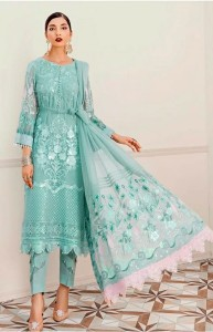 Ramsha Embroidery Pakistani Style Party Wear Suits