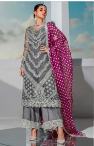 Ramsha Embroidery Pakistani Style Party Wear Suit