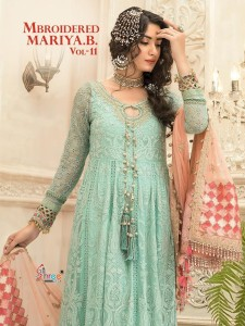 Shree Fabs Mbroidered Mariya B Vol 11 Georgette collection   ( 5 pc Catalog)