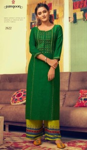 Rangoon Pick Up South Cotton Kurtis (8 pc catalog)