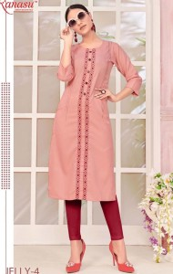 Kanasu Jelly Cotton Kurtis (08 pcs Catalog )