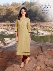 BANWERY BLEND VOL 4 COTTON READYMADE KURTI COLLECTION ( 4pc catalog)