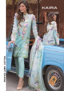 Keval Fab Kaira Luxury Lawn Dress Material ( 4 Pcs Catalog )