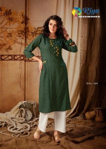 RIYA DESIGNER ANOKHI VOL-2 WITH HAND WORK KURTI WITH PALAZO ( 6 PCS CATALOGUE )