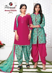 FLOREON BEAUTY PATIYALA VOL-3 COTTON DRESS MATERIAL ( 10 PCS CATALOGUE )