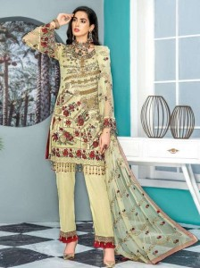 RINAZ FASHION MARYAM'S GOLD VOL-8 FOX GEORGETE EMBROIDERY ( 7 PCS CATALOGUE )