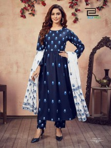 BLUE HILLS CAPTURE VOL-2 RAYON KURTI PALAZZO WITH DUPATTA ( 4 PCS CATALOGUE )