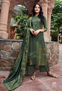 SAHIBA T AND M HEER PASHMINA WITH EMBROIDERY DRESS MATERIAL ( 8 PCS CATALOG )