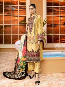 Shree Fabs Adan Libaas Schiffli Collection Vol-2 Pakistani Style Suits ( 6 Pcs Catalogue )