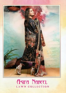 ASIFA NABEEL LAWN COLLECTION VOL-2 PAKISTANI STYLE DRESS MATERIAL ( 5 PCS CATALOG  COTTON DUPATTA )