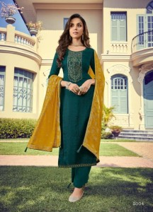 Deepsy Monalisa Nahya Silk Self Butti With Embroidery & Handwork Dress Material ( 6 Pcs Catalog )